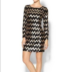 Piperlime Sequin Chevron Dress XS
